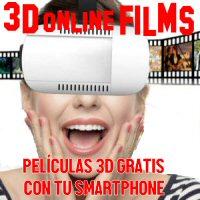 Películas 3D Gratis con tu smartphone